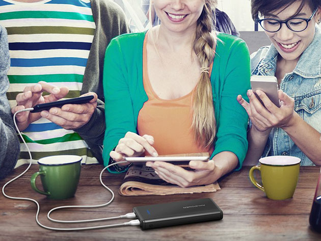 RAVPower 20,000mAh Dual Port Power Bank for $24