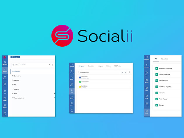 Socialii All-in-One Social Media Manager: Lifetime Subscription for $49