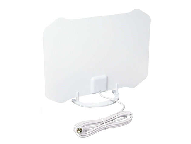 AT-133 Paper Thin Indoor TV Antenna with Table Stand for $19
