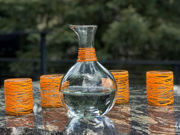 Handblown Glass Carafe for $33