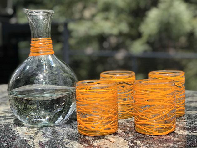 Handblown Glasses: Set of 4 for $38