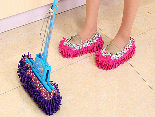 Lazy Maid Quick-Mop Slippers: 3-Pack for $14