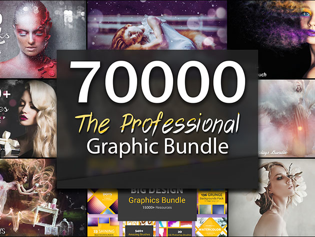 The Professional 70,000+ Graphic Asset Bundle for $49