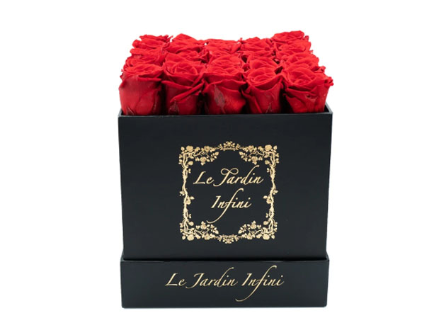 Preserved Roses in Medium Square Classic Black Box for $144