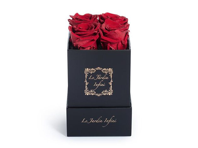 Preserved Roses in Small Square Classic Black Box  for $57