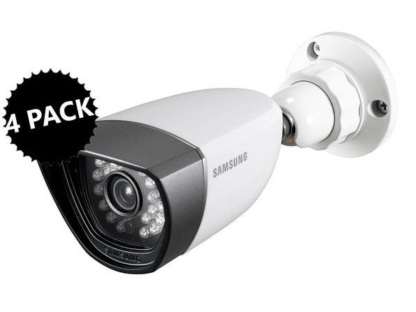 Samsung SDC-7340BC Weatherproof Night Vision Camera 4-Pack for $279