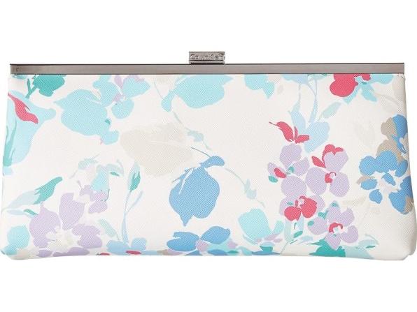 Calvin Klein Pastel Floral Saffiano Leather Clutch/Handbag for $32