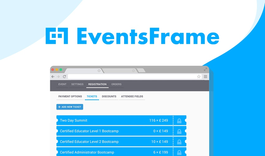 Lifetime Deal to EventsFrame for $49