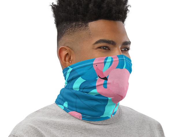 Reusable Fun Face Cover / Neck Gaiter (Flamingo) for $19