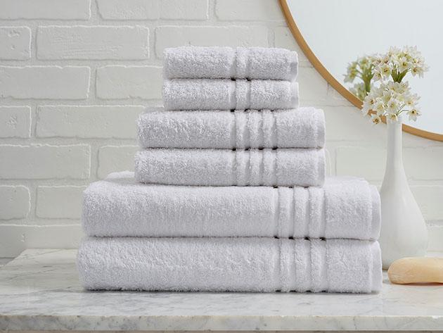 Turkish Cotton 6-Piece Ensemble Towel Set for $39