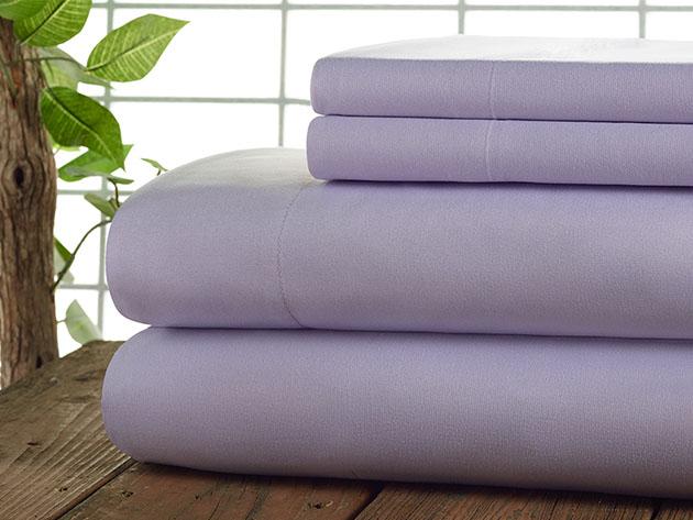 Kathy Ireland 4-Piece CoolMax Sheet Set (Lilac) for $32