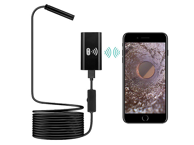 Sinji Flexible Borescope Camera for Android & iOS for $29