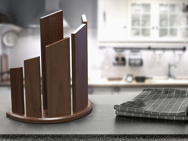 Dragon Spire Double-Sided Magnetic Walnut Wood Block for $129