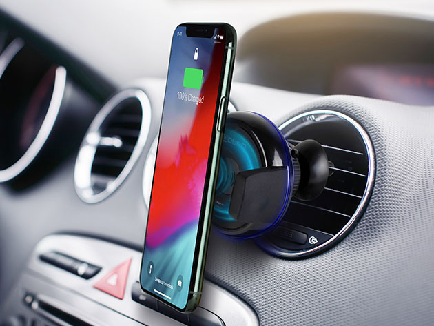 Aduro Qi-Certified Wireless Charging Vent Mount for $17