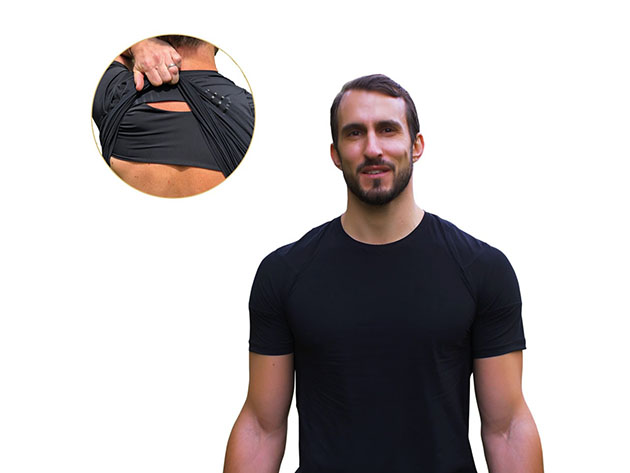 Posture Reminder™ T-Shirt with Alignment Technology (Black) for $39