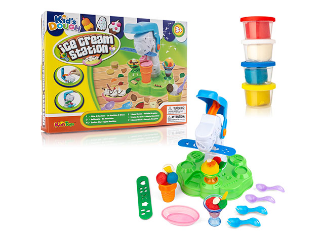 Multi-Piece Dough Playset for Kids  for $16