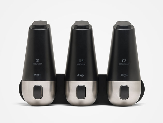 Drizzle: 3-Chamber Shower Dispenser for $36