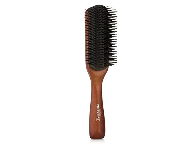 Non-Static Wooden Fine & Coarse Hair Comb for $9
