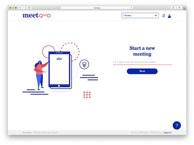 Meetquo Remote Meeting Platform: Lifetime Subscription for $49