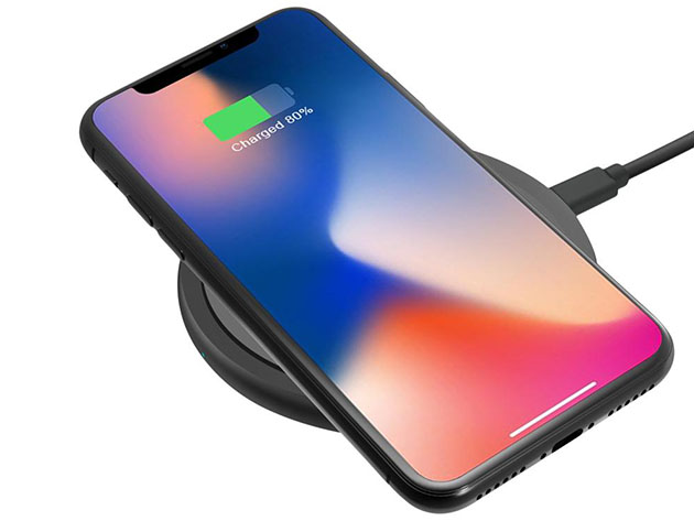 Qi Certified 10W Wireless Fast Charger for $21