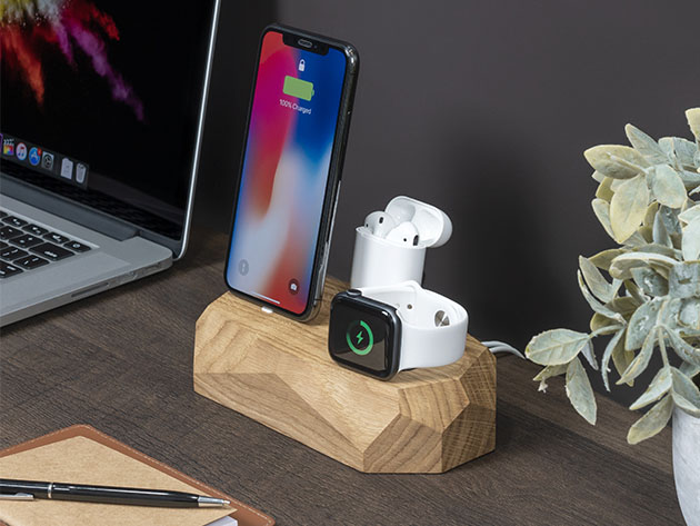 Triple Dock: 3-in-1 Apple Device Charging Station for $67