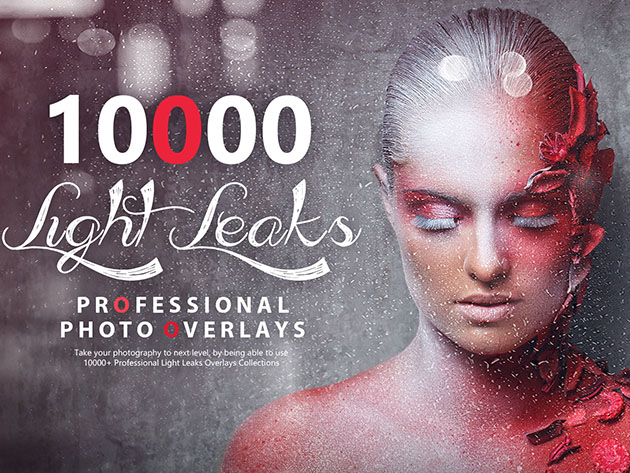 10,000+ Professional Light Leaks Photo Overlay Package for $24