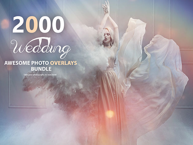 2,000+ Wedding Photo Overlays Bundle for $19