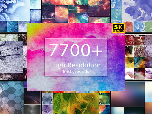 7700+ High-Resolution Backgrounds Bundle for $39