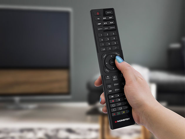 Monster 6-in-1 Universal Remote Control for $14