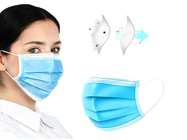 3-Ply Non-Medical Face Masks for $12