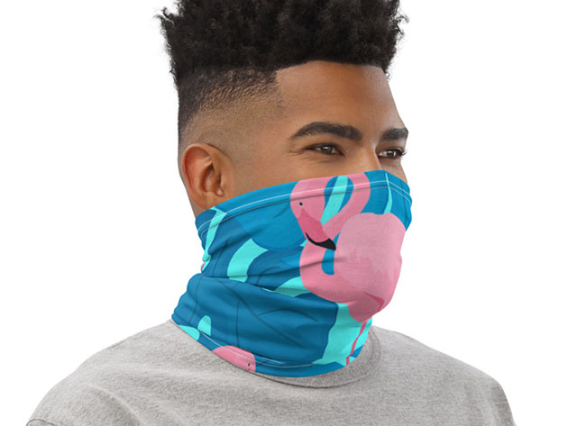 Breathable Fun Face Cover / Neck Gaiter (Flamingo) for $19