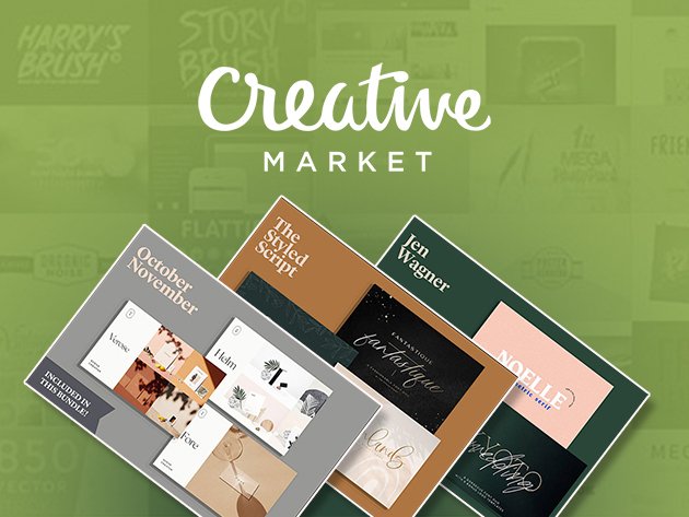 Design From Home: Creative Market Bundle for $39