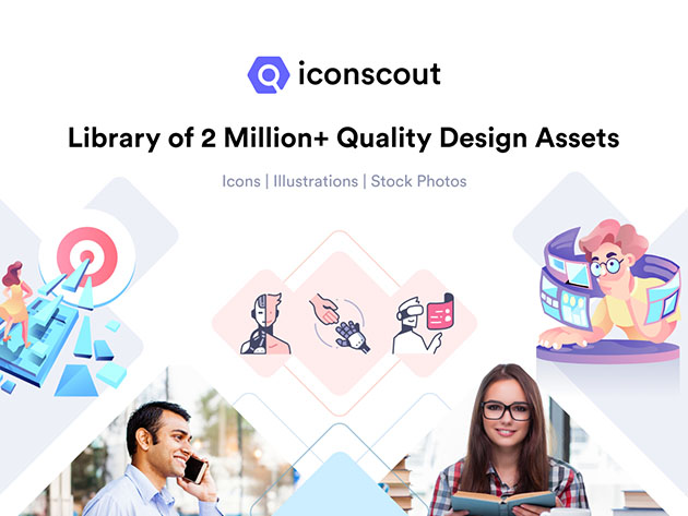 Iconscout Unlimited Icons Plan: 2-Yr Subscription for $49