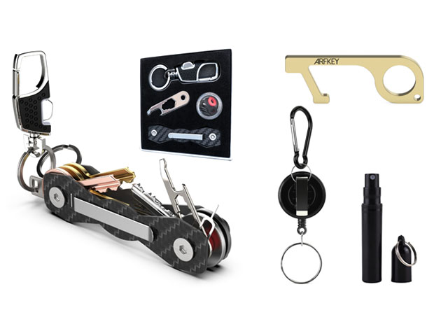 Carbon Fiber Compact Key Holder + EDC Tools Pack for $29
