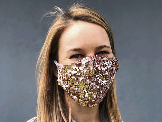 Sequin Face Mask for $20