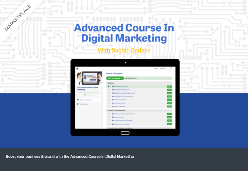 Advanced Course in Digital Marketing Lifetime Deal for $49