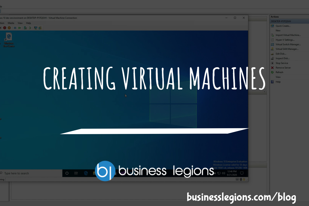 CREATING VIRTUAL MACHINES