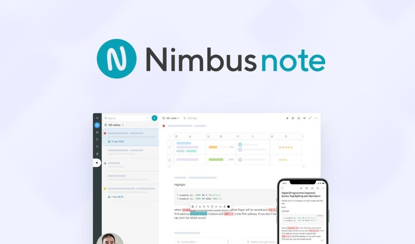 Nimbus Note Lifetime Deal for $59