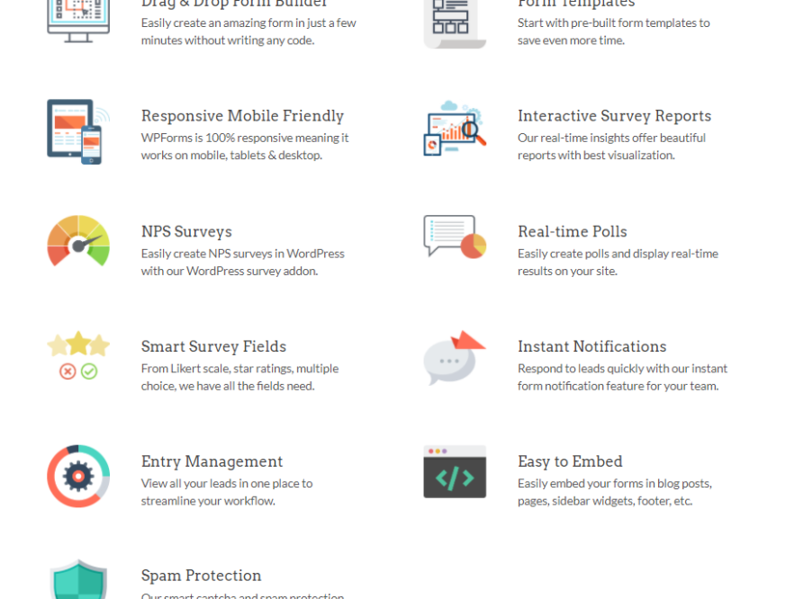 Business Legions looking for survey software WPForms features