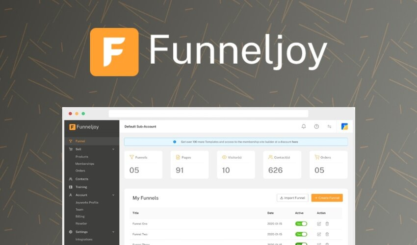 Funneljoy Lifetime Deal for $59