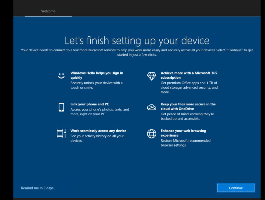 Business Legions HOW TO REMOVE WINDOWS 10 WELCOME SCREEN