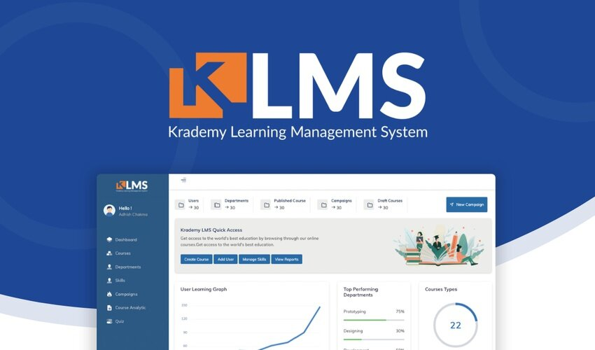 Krademy LMS Lifetime Deal for $59