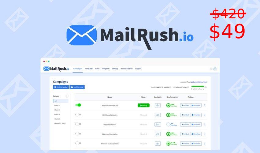 MailRush Lifetime Deal for $49