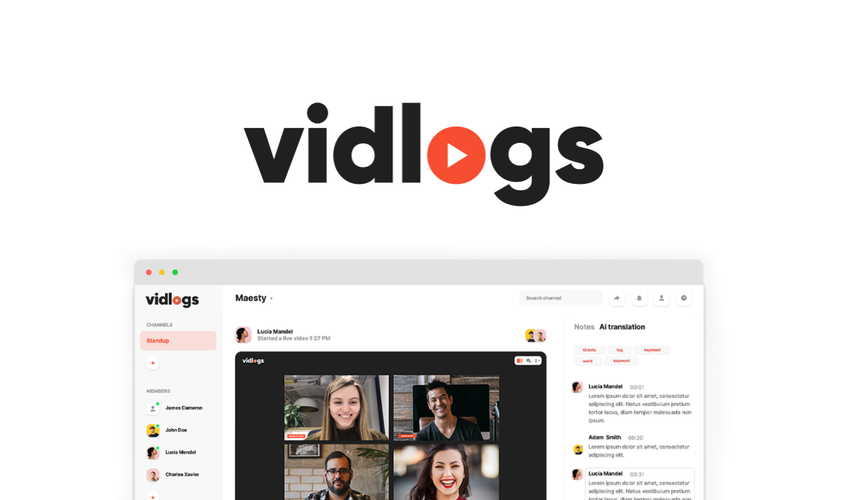 Vidlogs Lifetime Deal for $59