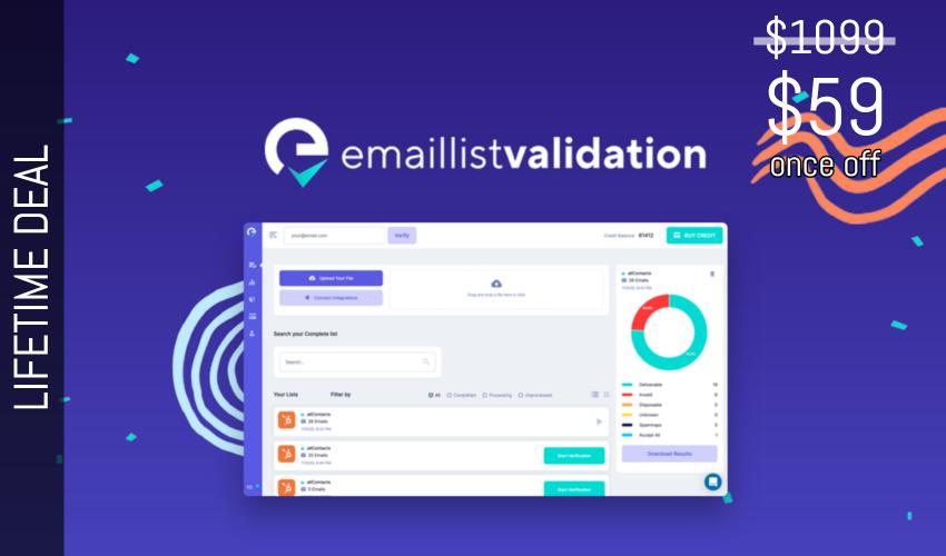 Email List Validation Lifetime Deal for $59
