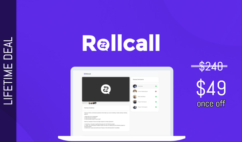 Rollcall Lifetime Deal for $49