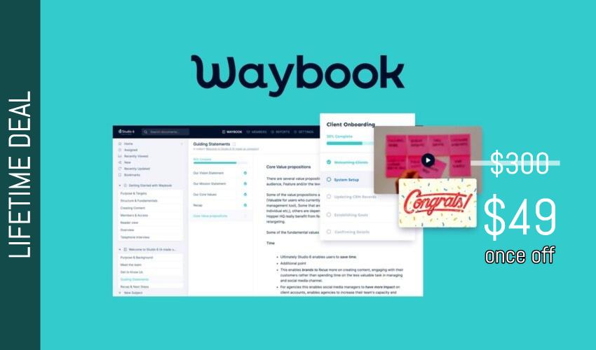 Waybook Lifetime Deal for $49