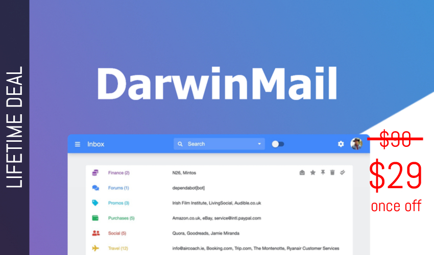DarwinMail Lifetime Deal for $29