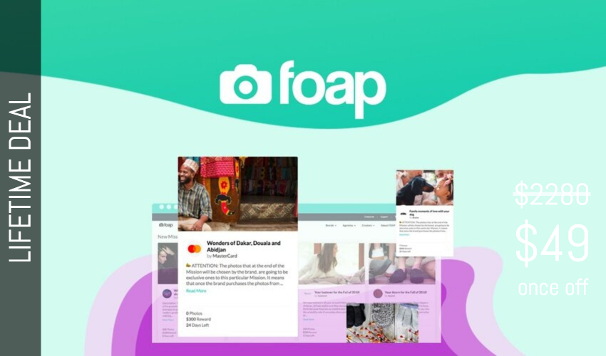 Foap Lifetime Deal for $49