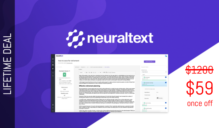 NeuralText Lifetime Deal for $59